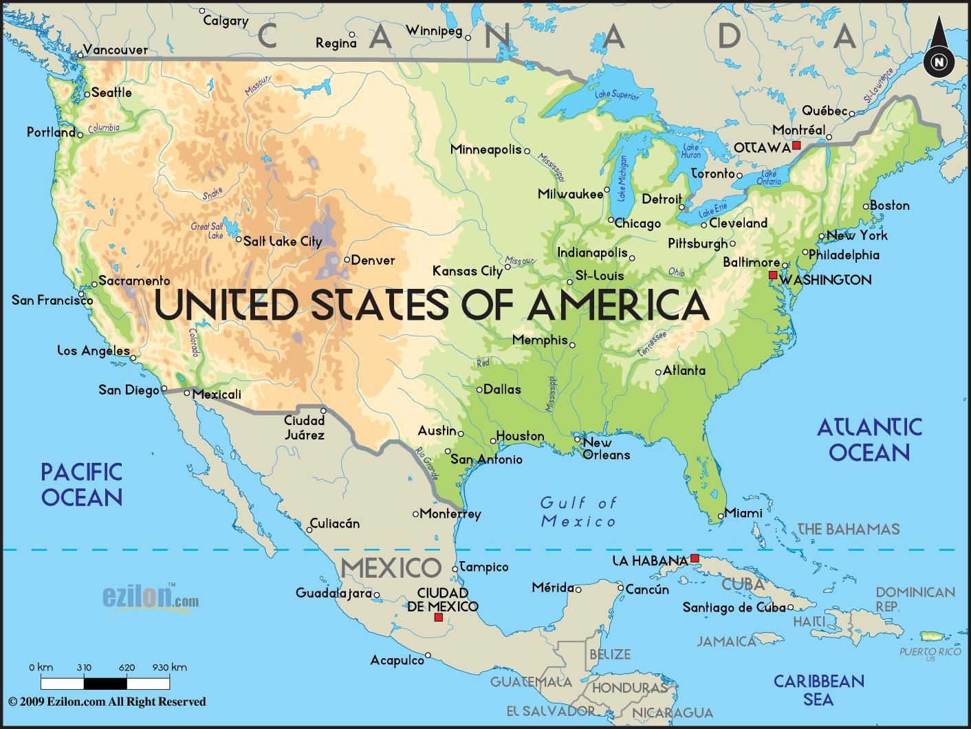 Karta Amerike Drzave Drzave Karta Amerike Sjeverna Amerika