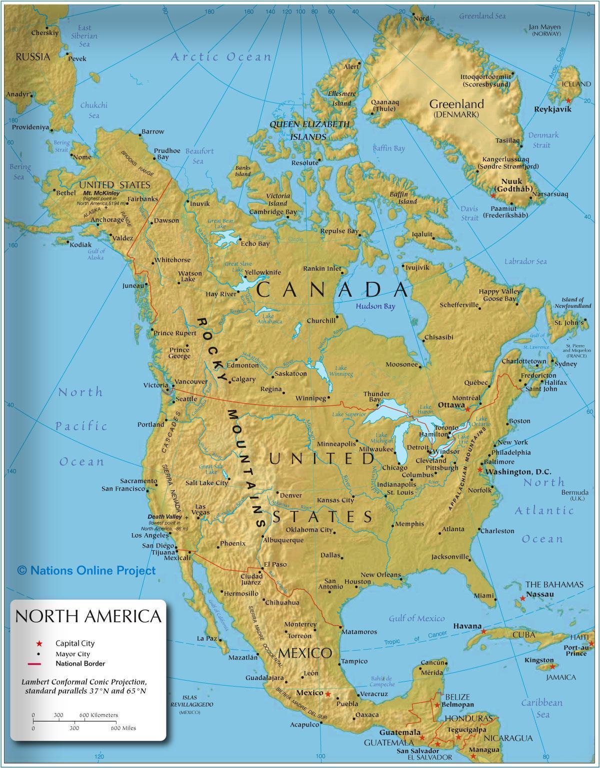 Karta Zapadne Obale Amerike Zapadnoj Obali Amerike Kartice