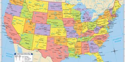 Amerika Gradovi Karta.Jugo Zapadu Sad Kartica Jugo Zapadna Kartica U Sad U Sjeverna